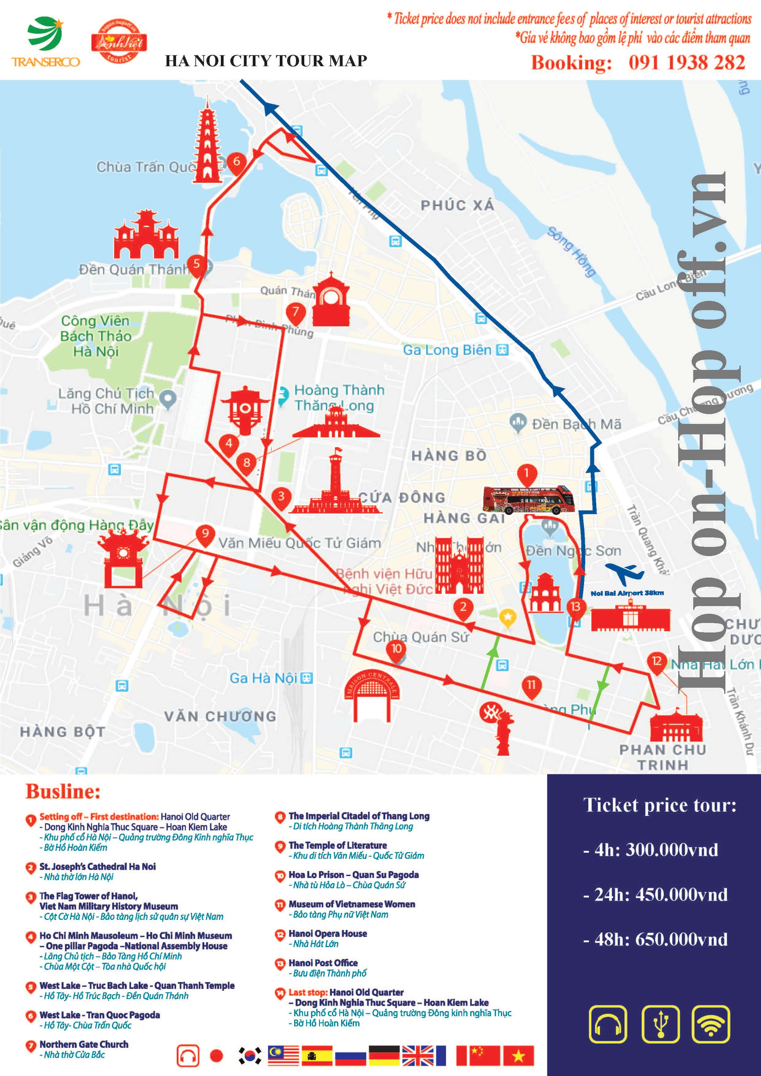 HaNoi City Bus Tour (Valid 4 hours)